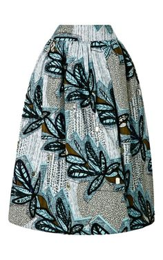 Shop Tafui Embellished Printed Skirt by Stella Jean Now Available on Moda Operandi