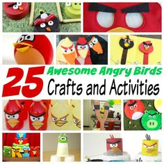 25 Awesome Angry Bird Crafts and Activities - Kids Crafts Fun Crafts To Do, Easy Arts And Crafts, Summer Crafts For Kids, Cute Crafts, Craft Stick Crafts, Simple Crafts, Craft Ideas, Indoor Crafts, Cultural Crafts