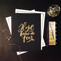 Hope by @brushinkandpaper - Daily typography & lettering design love ❤️ - typostrate - typostrate.com