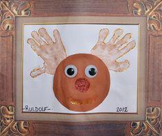 Handprint Rudolf Christmas Craft for kids