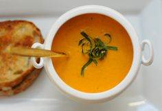 Cream of Tomato Soup + Grilled Cheese.