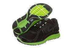 NIKE LUNARECLIPSE+ 2 SHIELD MENS 537918-003 Black Green Running Shoes Size 7.5
