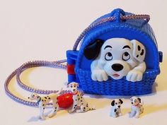 Disney Once Upon a Time 101 Dalmatians Dog Puppy Locket Compact Polly Pocket Toy #Mattel #Dolls