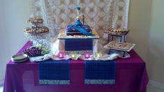 The dessert table for my husbands arabian nights 40th birthday.