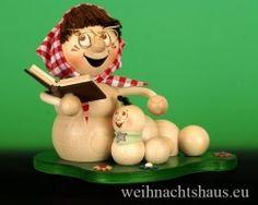 <!--11-->Räuchermann Räucherwurm Erzgebirge Oma mit Enkel