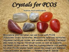 Crystal Guidance: Crystal Tips and Prescriptions - PCOS (Polycystic Ovary Syndrome) Crystals stones rocks magic love healing Crystals Minerals, Crystals And Gemstones, Stones And Crystals, Chakra Crystals, Gem Stones, Healing Stones, Crystal Healing, Reiki, Pcos Infertility