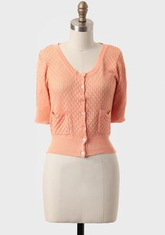 Sweet Tangerine Cropped Sweater