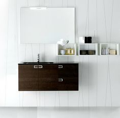 Inda City vanity furniture. Create your bathroom style with modular bath furniture