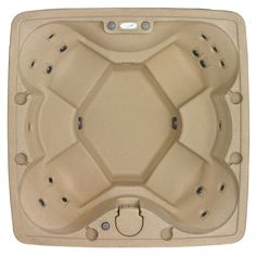 AR-600 6 Person 18 Jets with Easy Plug N Play and LED Waterfall (Sandstone) #AquaRestSpas