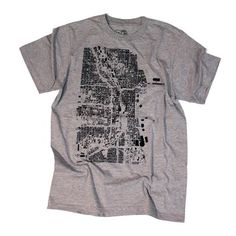Chicago Tee Men's Light Grey, 14€, now featured on Fab.