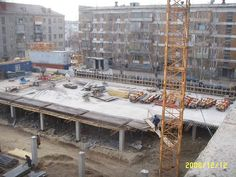 Concreting of columns and lift slab of the underground parking