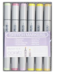 Copic - Sketch Marker Set - Very Pastel - 12 Piece Set at Scrapbook.com $77.99