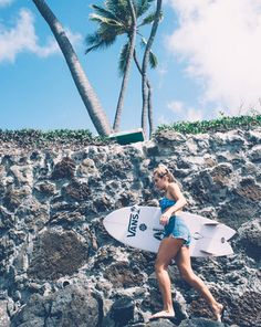 Leila Hurst putting her Vans Sandals to good use over lava rocks on Oahu. Photo: Daniel Russo