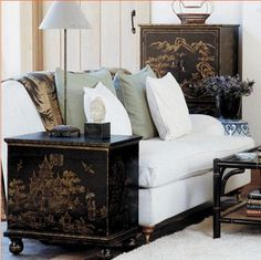 chinoiserie by OKA direct / this is what my auction chest will look like when I am finished!