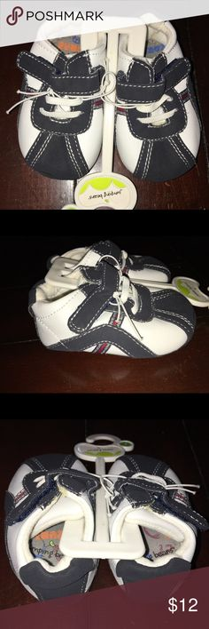 NWT* Size 2 Sneakers Jumping Beans Navy White Shoe NWT* (see pics there is a # written on bottom of shoe with marker)  Jumping Beans  Size 2  Navy and White Sneakers Velcro Closure  Comes from Smoke Free & Pet Free Home Jumping Beans Shoes Sneakers