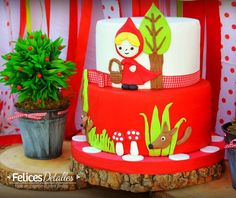 Loving this Little Red Riding Cake! See more party ideas and share yours at CatchMyParty.com