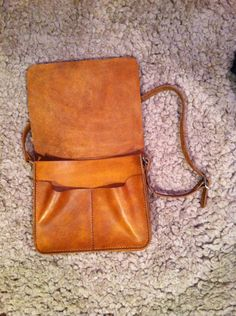 DIY leather messenger bag