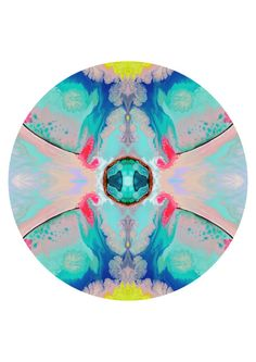 Geometric circle art print, abstract print, mint wall art, modern home decor, abstract wall decor, pastel art print, blue, pink aqua  This is a fine art giclee print of my digitally manipulated original acrylic painting. The painting is professionally scanned and will be professionally printed for you on high quality rag paper or un-stretched canvas using archival inks. If you do not find the size you require in the dropdown menu please contact me for a custom quote.  Your print will be…