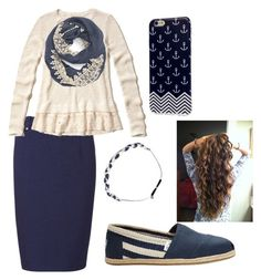 """""""navy n white"""" by apostolic-country-girl-98 ❤ liked on Polyvore featuring Sugarhill Boutique, Hollister Co., Evelyn K, TOMS and Sage et Sauvage"""
