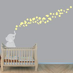 Yellow and Grey Elephant Stickers, Elephant Bubbles Decal, Wall Décor for Nursery Nursery Decals and More http://www.amazon.com/dp/B00THGPMMO/ref=cm_sw_r_pi_dp_YxlBvb0R41KVQ