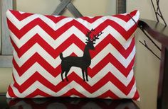Reindeer Chevron Pillow Cover! $19.00