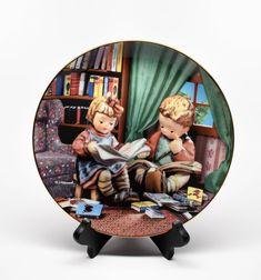 HUMMEL DANBURY MINT Collectible Plate ~ Hummel Little Companions Plates ~ Hummel Collectible Plates ~ Hummel Budding Scholars Plate ~ Hummel by REDSTONEVINTAGE on Etsy