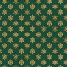 Gold Snowflake on Green.jpg wordt weergegeven