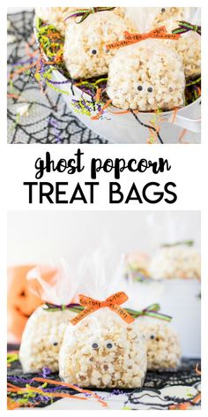Ghost Popcorn Treat Bags– a fun and simple craft idea that is perfect for halloween. These popcorn filled treat bags are a fun snack to enjoy or hand out to trick or treaters. Classroom Halloween Party, Halloween Crafts For Kids, Halloween Treats, Preschool Halloween, Halloween Stuff, Vegan Kitchen, Kitchen Recipes, Holiday Treats, Holiday Recipes
