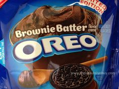 Coming Soon: Limited Edition Brownie Batter Oreo Cookies Oreos, Oreo Brownies, Weird Oreo Flavors, Cookie Flavors, Yummy Treats, Delicious Desserts, Oreo Treats, Dessert Oreo, Oreo Desserts
