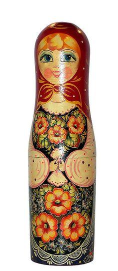 Tall Matryoshka Doll. Matryoshka Doll, Kokeshi Dolls, Japanese Princess, Wooden Figurines, Byzantine Art, Chiffon, Russian Art, Painting On Wood, Art Dolls