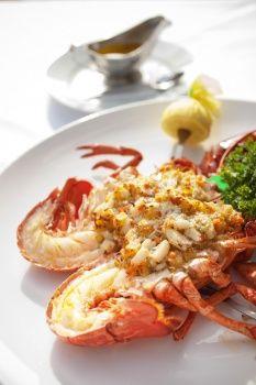 Seafood-Stuffed Lobster
