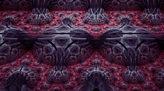 Raspberry Streets in Fractal Art