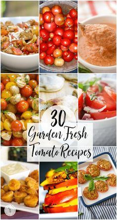 In this post you'll find our most popular garden fresh tomato recipes including appetizers, salads, sides and main entrees. Easy Main Dish Recipes, Side Dishes Easy, Main Dishes, Healthy Recipes, Make Sun Dried Tomatoes, Fried Tomatoes, Dinner Dishes, Food Dishes, Cucumber Quinoa Salad