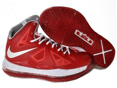 quality design 11d9d 78b12 Nike LeBron 10 Bred Red White Style Code 541100-166 It sports a bred