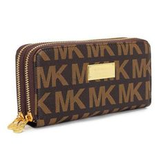 Michael Kors Continental Logo Large Brown Wallets