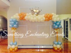Welcome Prince Baby Shower Party Ideas Shower Party, Baby Shower Parties, Baby Shower Themes, Baby Shower Decorations, Shower Ideas, Shower Favors, Jordan Baby Shower, Baby Boy Shower, Balloon Decorations