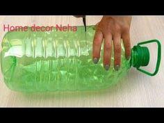 Art Plastic, Plastic Bottle Planter, Reuse Plastic Bottles, Plastic Bottle Crafts, Recycled Bottles, Diy Crafts For Gifts, Easy Crafts, Cement Flower Pots, Pot Jardin