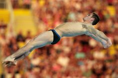 David Boudia of the United States competes in the Men's 10m Platform Diving Semifinal on Day 15 of the London 2012 Olympic Games at the Aquatics Centre on August 11, 2012 in London, England. (Photo by Adam Pretty/Getty Images)