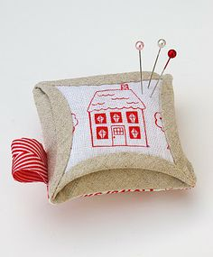 #sew this stunning Cathedral Windows pin cushion