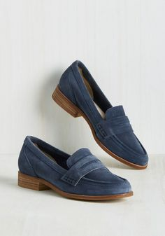Tigers Eye Loafer in Aegean. Its the thrill of the flight when youre hustling out the door in these suede loafers by Seychelles. #blue #modcloth