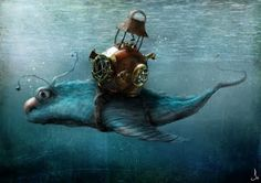 Rogerson and the diving bell