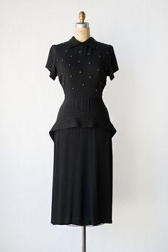 vintage 1940s dress   40s dress   Tempest Blooms Dress