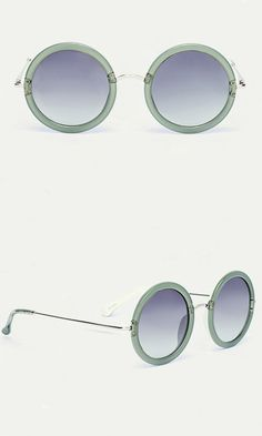 20691d88f902a8 Bold oversized frames, hints of metallic shine and soft leather tipsthese  minimalist rounds stun with