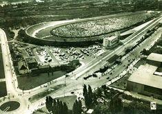 Blick vom Funkturm auf die Avus, um 1928. Pontiac Firebird, Le Mans, The Great Race, Berlin Germany, Berlin Berlin, Lancia Delta, Racing Events, Car Posters, My Ride
