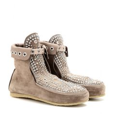 mytheresa.com - Mocassini Morley in suede con borchiette - Scarpe basse - Tronchetti - scarpe - Luxury Fashion for Women / Designer clothing, shoes, bags