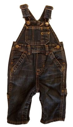 GAP Baby Boys Denim Dungarees Jeans Trousers 3-6 Months