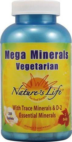 Nature's Life Mega Minerals Vegetarian 250 Tablets