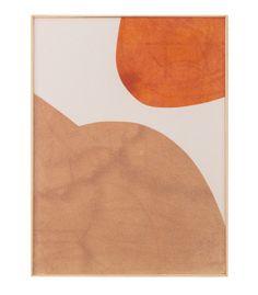 Magda Skupinska: - Dune. Chilli and rosehip powder on canvas, 2016