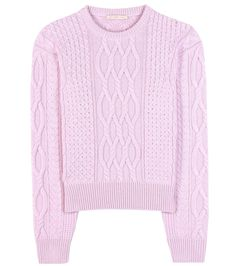 Christopher Kane - Wool and cashmere sweater - Cut in a striking shade of lavender from a luxury blend of wool and cashmere, we love the classic cable knit finish to this repertoire essential. - @ www.mytheresa.com