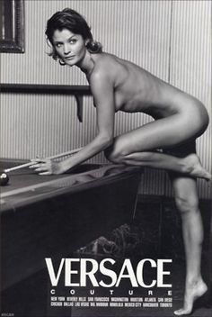 """Helena Christensen for """"Versace Couture"""" ad campaign....."""